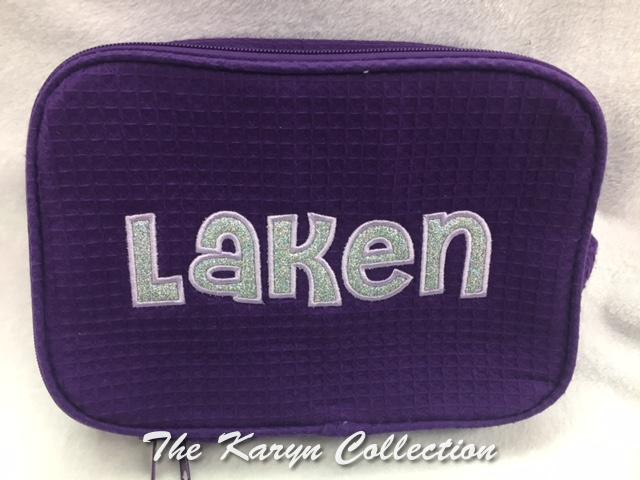 Laken's 2-Zipper Waffle Bag