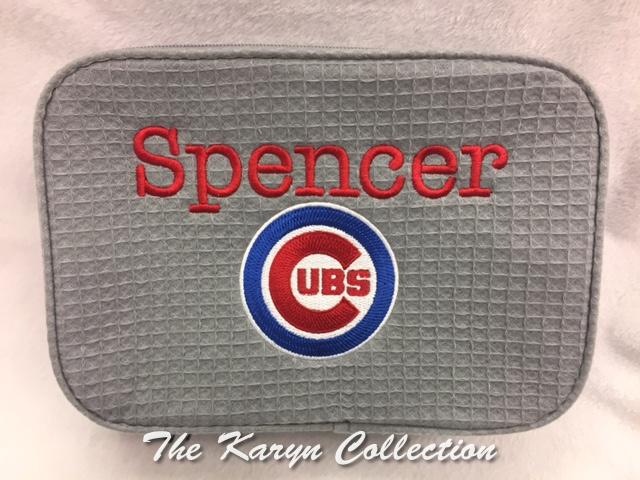 Spencer's 2-Zipper Waffle Bag