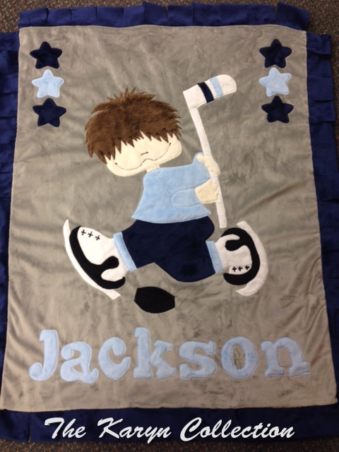 Jackson's Hockey Blanket