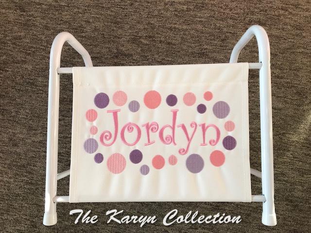 Jordyn's polka dot magazine-book rack