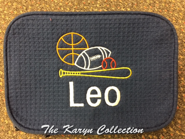 Leo's Sports Waffle Bag on navy