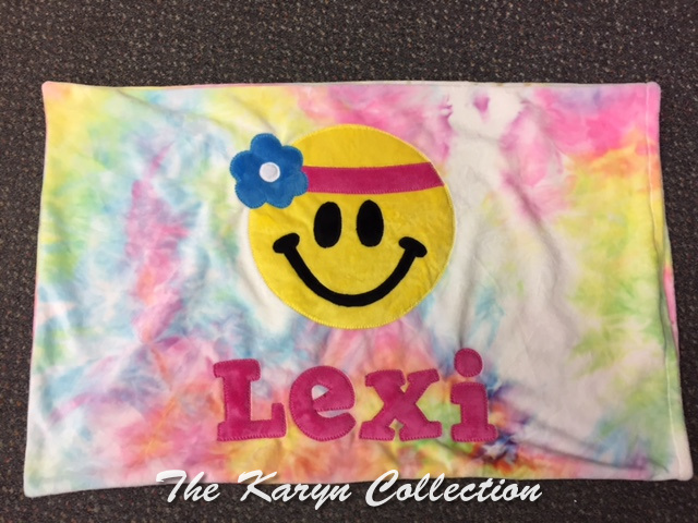 Lexi's Tie Dye Happy Face Pillow Case