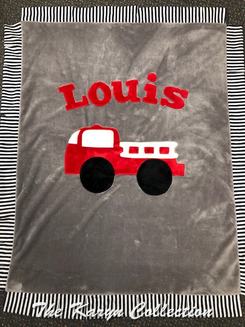 Louis's Firetruck Basic MINKY Blanket