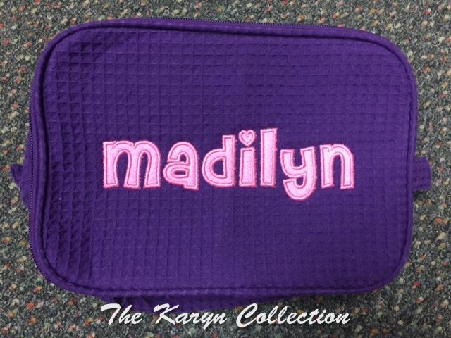 Madilyn's Purple Waffle Bag