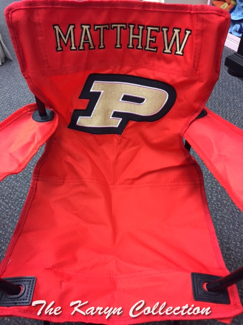 Matthew's Red Purdue Stadium Chair