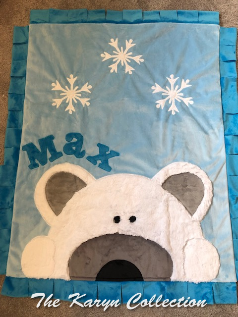 Max's minki Polar Bear Blanket