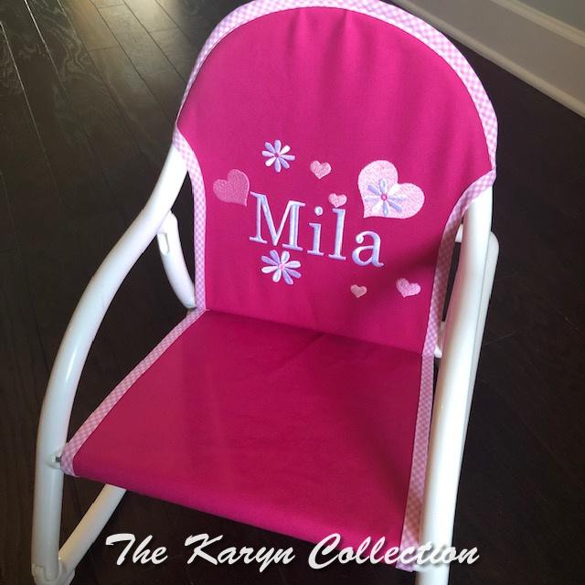 Mila's hearts and daisy rocker on hot pink