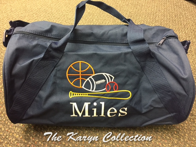 Mile's Navy Sports Duffle Bag