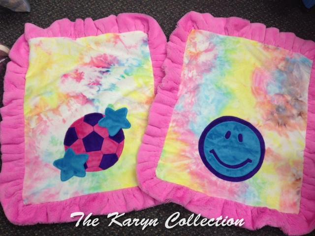 MINI Minky Blankets in pastel tie dye!