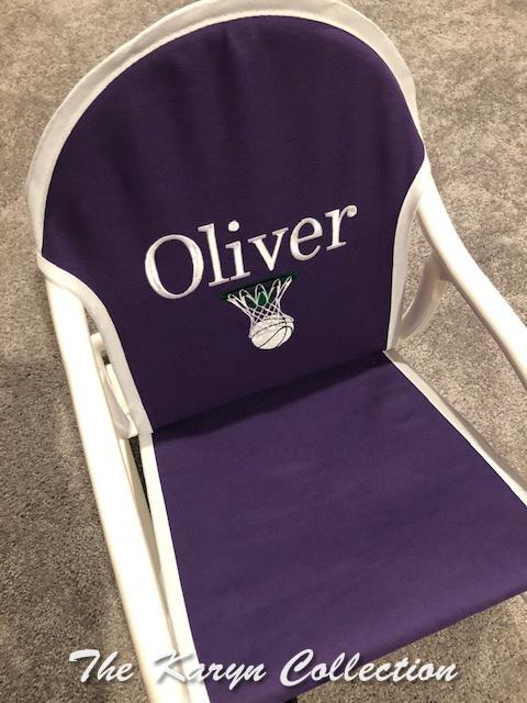 Oliver's purple basketball rocker