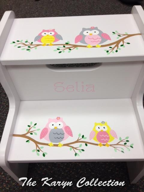 Selia's Owls 2-Step Stool