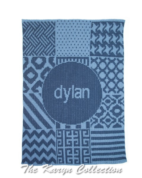 Patchwork & Name Stroller Blanket