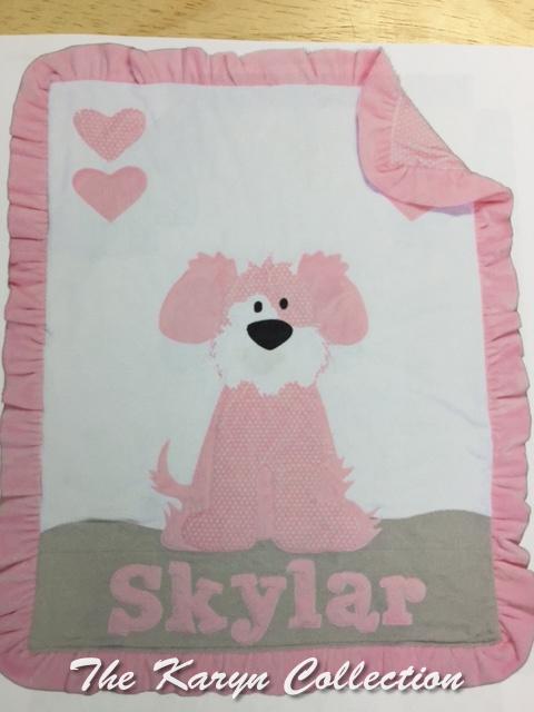 My Dog Spot Minki blanket for Skylar