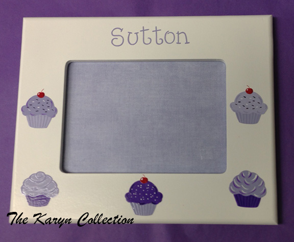 Sutton's Hand Painted Cupcake Picture Frame