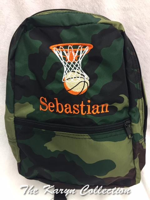 Sebastian's Camo  backpack- select mini or large