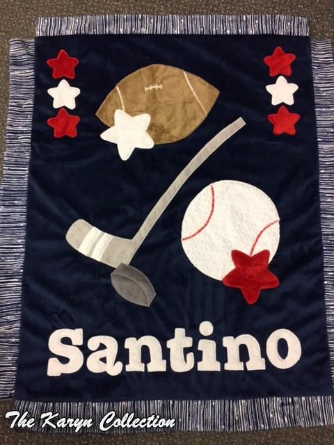 Santino Sports minky  Blanket