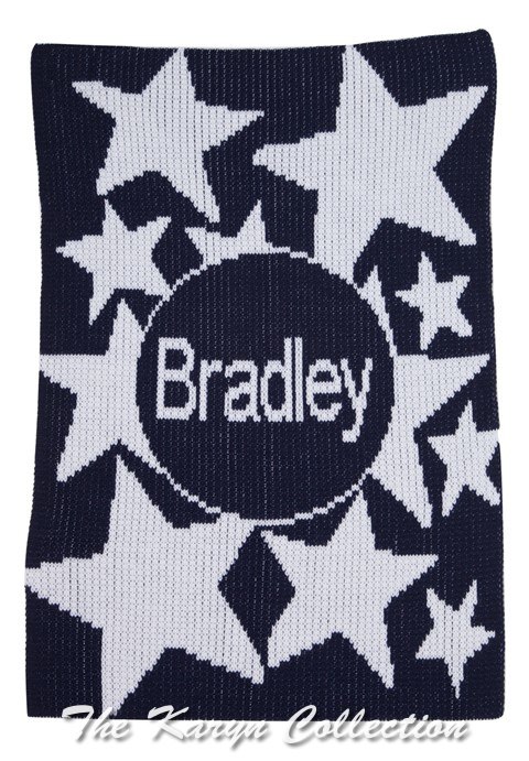 Shooting Stars & Name Stroller Blanket