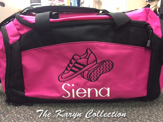 Siena's Duffle with Shoe Pocket - Sneakers Design