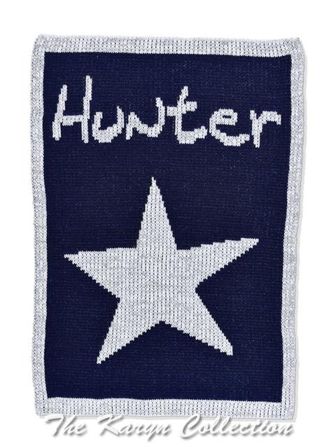 Metallic Single Star & Name Stroller Blanket