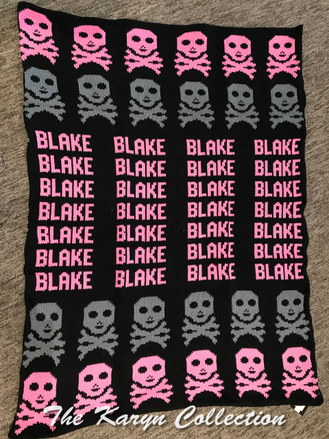 *EXCLUSIVELY OURS...BLAKE'S ALL COTTON SKULLS BLANKET
