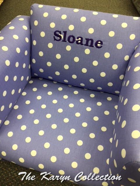 Sloane's Purple w White Polka dot Chair