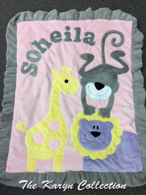 Soheila's Wild Animal Minky Blanket