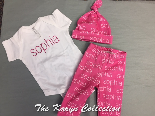 Sophia's 3pc set in Organic cotton....