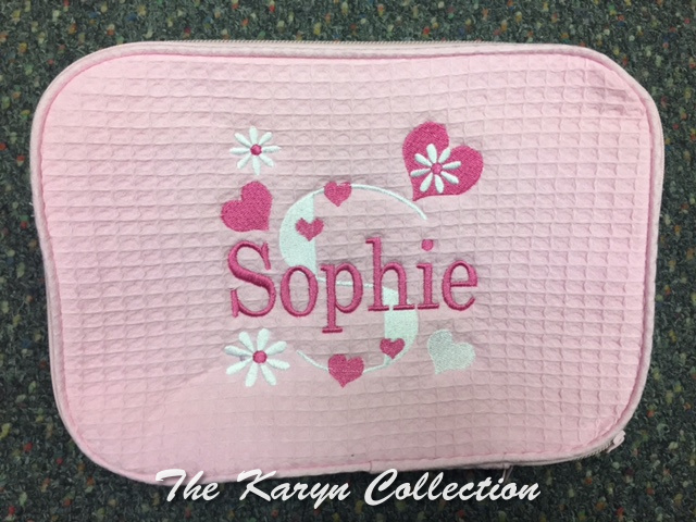 Sophie Pink Hearts Waffle Bag