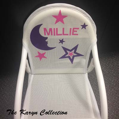 Millie's White Moon and Stars Rocking Chair