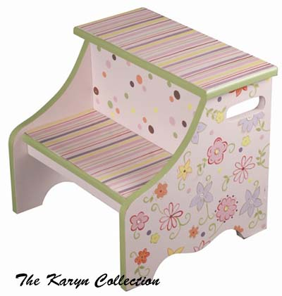 Funky Flowers 2-Step Stool