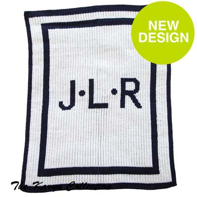 Initials and Double Boarder Stroller Blanket