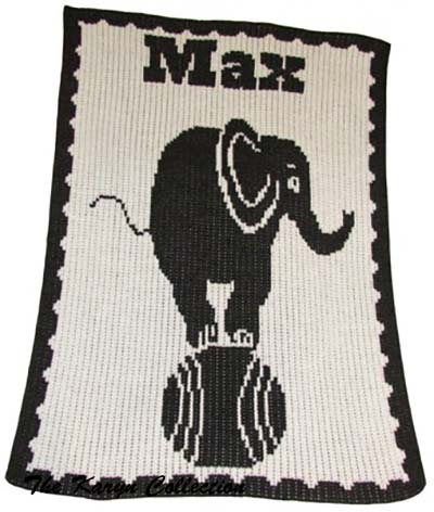 Elephant On Ball Stroller Blanket