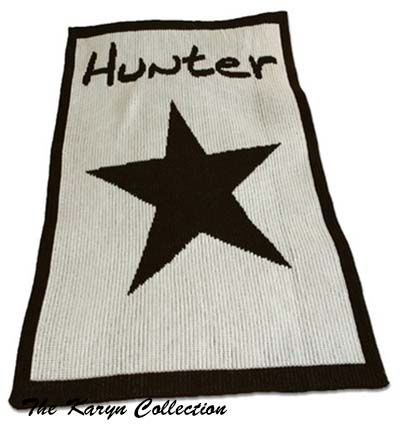 Star and Name Stroller Blanket 13