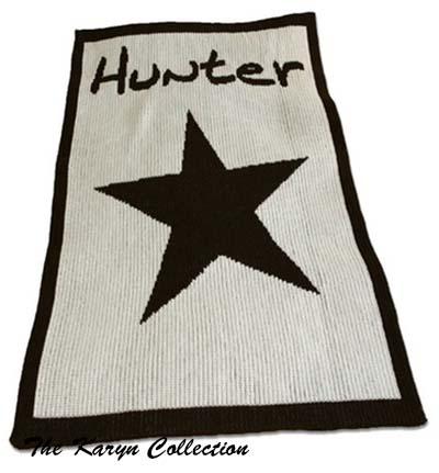Star and Name Stroller Blanket 13