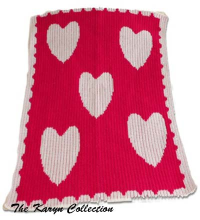 Floating Hearts Stroller Blanket