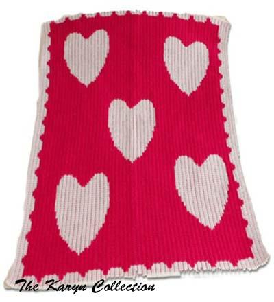 Floating Hearts Stroller Blanket
