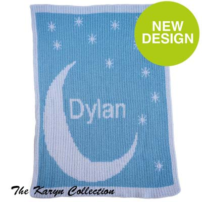 Moon and Stars Stroller Blanket
