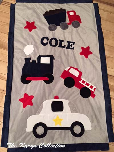 Cole's Toddler Transportation Blanket