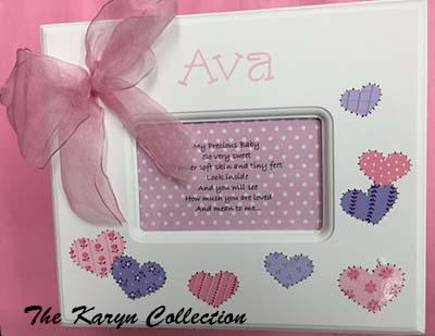 Girls Memory Box in Patchwork Hearts