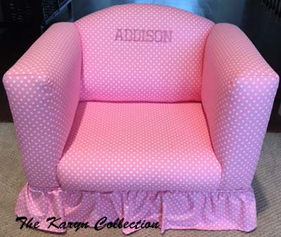 Addison's Pink and White Polka-Dot Chair