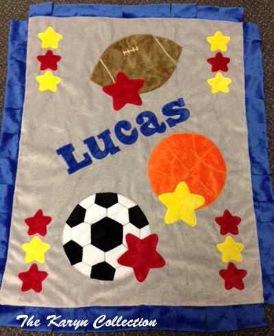 Lucas Sports Minky Blanket