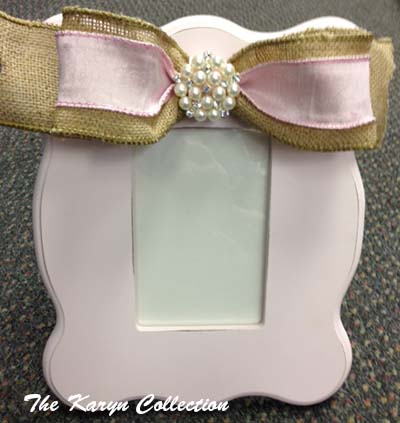 Pink Scallop Picture Frame