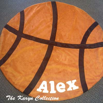 Basketball Shape Minky Blanket