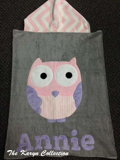 """Who"" Girl's Toddler Towel"