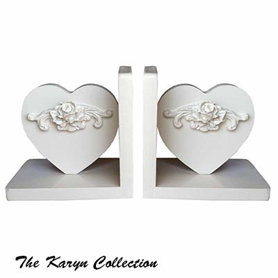 Vintage Heart Shaped Bookends