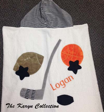 Logan's Sports Hooded Towel