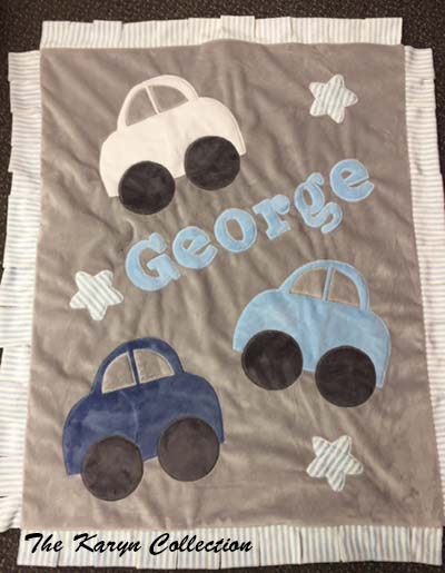 George Car Blanket Accented with Stripes
