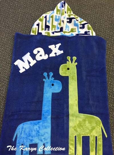 Max's Toddler Towel - 2 Giraffes