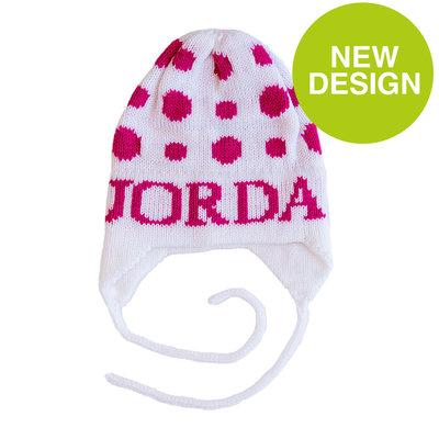 Jordan's Polka Dot Hat with Earflaps