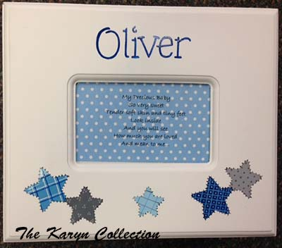 Oliver's Patchwork Star Memory box